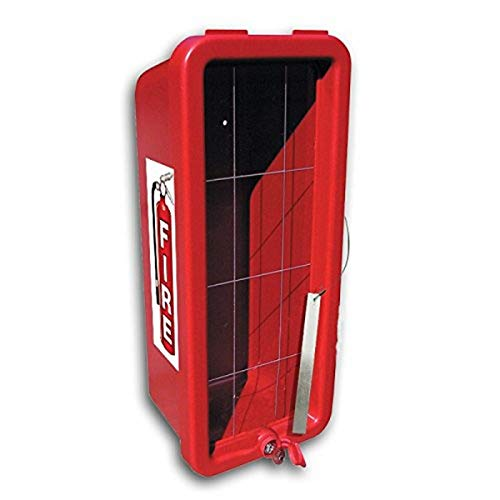 CATO 12051-B Red Plastic Chief Fire Extinguisher Cabinet for 20 lb. Extinguisher, with Breaker Bar and Cylinder Lock