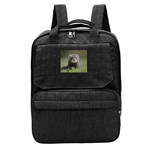 Schoolbag Cute Ferret Polecat Weasel Mustela Notebook Bag Mochila Bolso De Viaje Mujer Casual Student Gift School Bag Travel Printed Teens Ligero Bookbag Student Acogedor Durable
