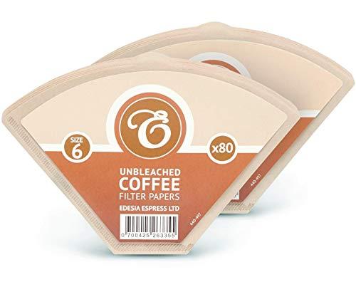 EDESIA ESPRESS - 160 filtres à café coniques en papier - non blanchis - taille 6