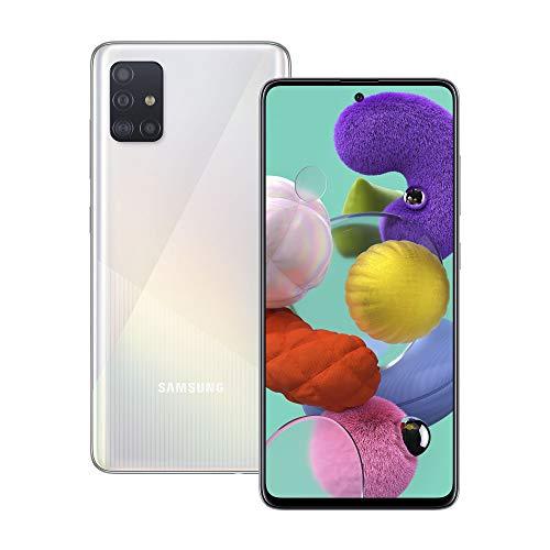 Samsung Galaxy A51 128 GB Dual SIM - Android Smartphone - SIM Free Mobile Phone - Prism Crush White (UK Version)