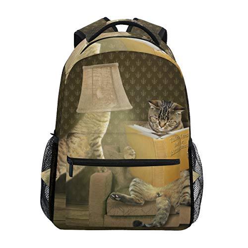 Mochila Informal de Mesa Lámpara de Lectura Mochila de Gato para niños y niñas Mochila Linda Bolsa al Aire Libre