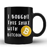 Comprado esto con Bitcoins BTC Gifts Novedad Negro tazas de café