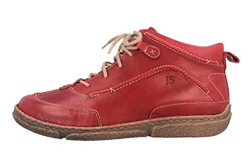Josef Seibel Damen Stiefeletten Neele 52, Frauen Schnürstiefelette, halb-Stiefel schnür-Bootie übergangsschuh weiblich,Rot(Hibiscus),38 EU / 5 UK