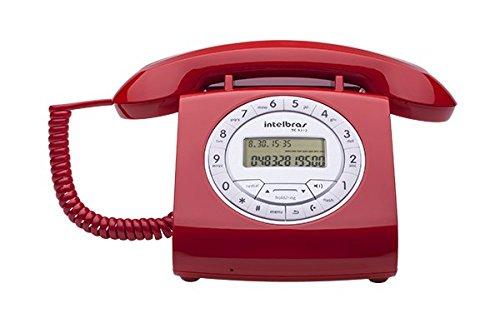 TELEFONE COM FIO TC8312 VIVA-VOZ COM AJUSTE DE VOLUME- IDENTIFICADOR DE CHAMADAS VERMELHO