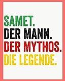 Samet Der Mann Der Mythos Die Legende: Personalisiertes Geschenk Für Samet, 8x10 inches Notizbuch mit 120 Seiten, Individuelle Geschenkidee notizbuch blanko