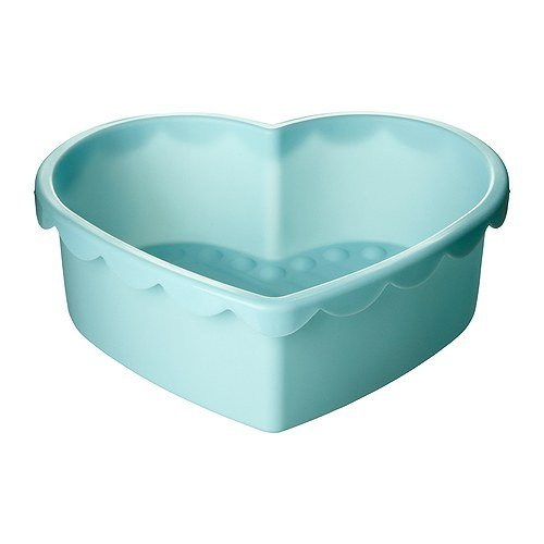 IKEA SOCKERKAKA – Backform, Herz hell blau – 1,5 l
