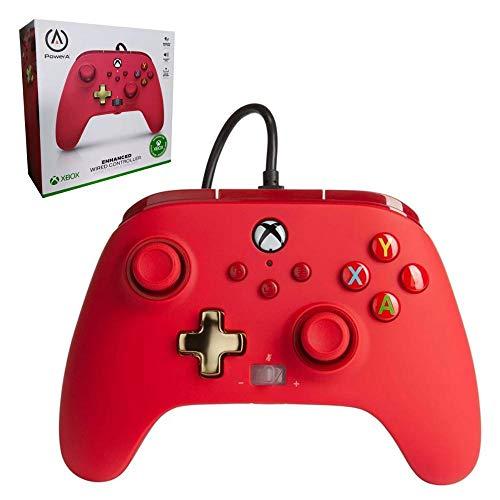 Manette filaire améliorée PowerA pour Xbox – Rouge
