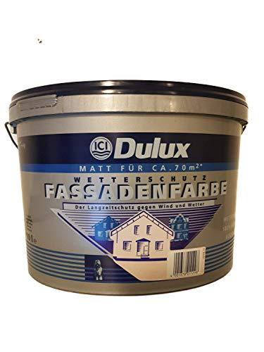 Dulux Reinacrylat Langzeit Fassadenfarbe 10 L Farbwahl Matt, Farbe:Ziegelrot