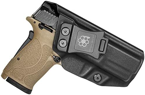 Amberide IWB KYDEX Holster Fit S W M P 9mm Shield EZ Inside Waistband Adjustable Cant US KYDEX product image