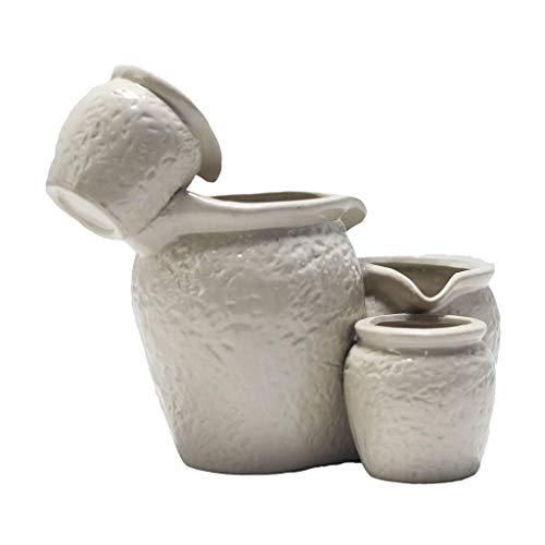 Cat Water Fountain Automatischer Wassertank aus Keramik für Haustiere 650ML Super Quiet Drinking Bowl mit gesundem Sauerstoffwasser (Farbe:C)