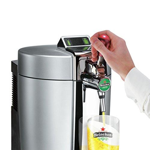 Krups VB700E00 Machine Pression Beertender Loft Edition Pompe Tireuse à bière Fût 5L Argent Chrome