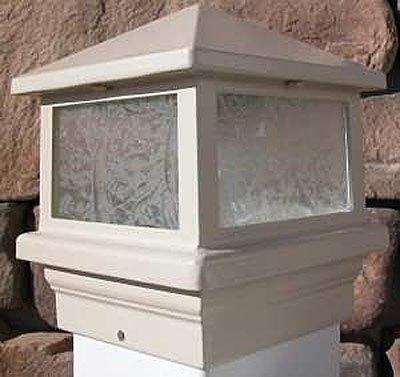 Sirius - Lámpara de cubierta, poste de 4 pulgadas, LED de 1,6 W, color marrón