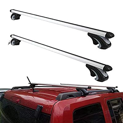 Otherya Aero Aluminum 56'' Universal Roof Rack Crossbars, Existing Raised Side Rail with Gap - Mounted Roof Cross Bars Fit Most Cars or SUVs