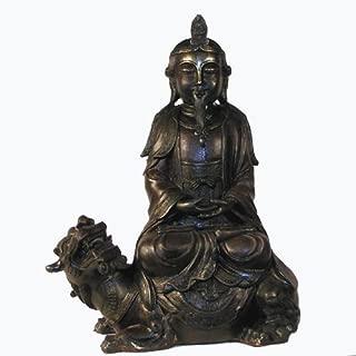 Tibetan Silver Statue Dalai Lama Snow Lion Throne