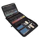 72 matite colorate Set per i rifornimenti di schizzo Libri da colorare Scuola per i rifornimenti dell'artista professionista Adulti Bambini ufficio