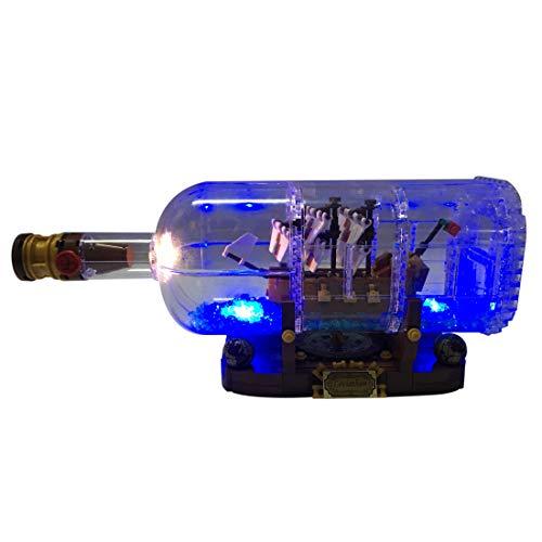 NURICH Licht Set für Lego 21313 Schiff in der Flasche, USB Stecker, passen zum Lego 21313