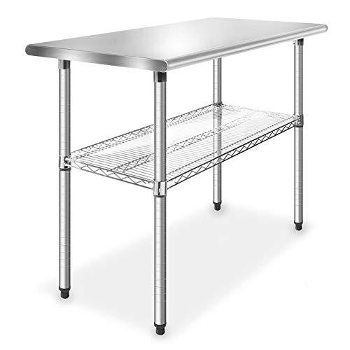 GRIDMANN Stainless Steel 49 in. x 24 in. Commercial Kitchen Prep & Work Table w/ Wire Undershelf
