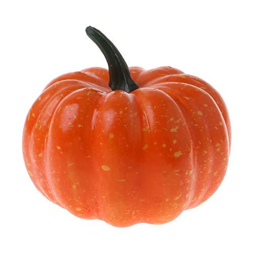 WEDFTGF realista Halloween calabaza artificial falsa fruta vegetal decoración del hogar fiesta