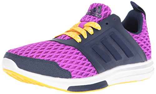 adidas Women's YVORI Cross-Trainer Shoe, Pop Purple/Super Yellow/White Vapor, 10.5 M US