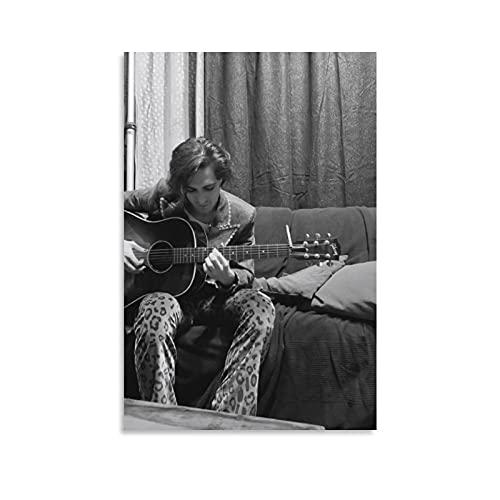 GUOHANG Póster de Rock 'n 'roll sobre Maneskin Guitarrista Thomas Raj Wall Art Picture 20 × 30 cm