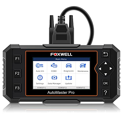 FOXWELL Car Scanner Transmission Engine ABS Airbag Diagnostic Tool, NT614 Elite Automotive Scanner with EPB/Oil Light Reset, Check Light Engine Car Scanner Diagnostic for All Cars(Eng. & SPA. Ver.)