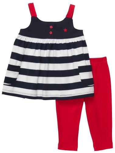 Carter's 2-delige combinatie voor meisjes tuniek + capribroek/shorts babymeisje zomer outfit set t-shirt blouse
