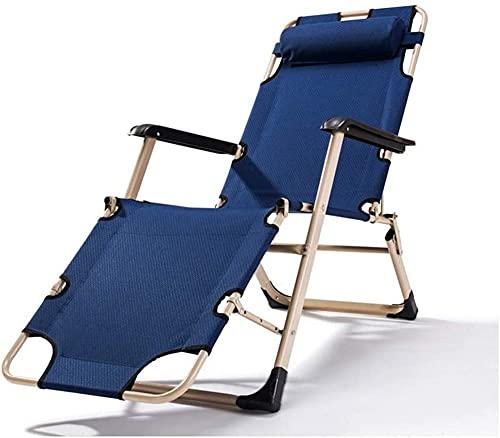 ZGYZ Sillón Moderno, Mecedora Ajustable, sillón de jardín Plegable, con reposacabezas y cojín, Tela Impermeable, Piscina Exterior, jardín de Oficina