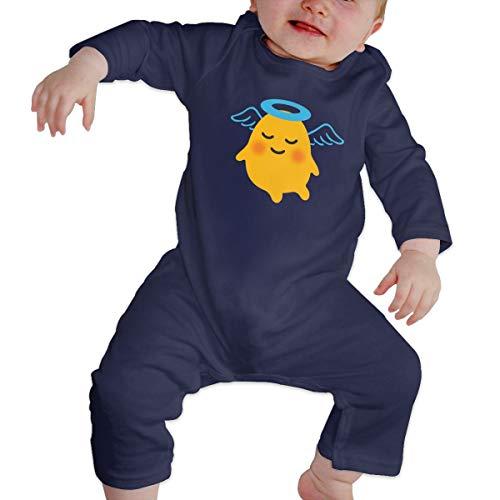 Rasyko Schlange vs Ziegelsteine, Android Marshmallow Baby Angel Baby Crawler Baby Persönlichkeit Klettern Kleidung Kleinkind Strampler Gr. 2 Jahre, Navy