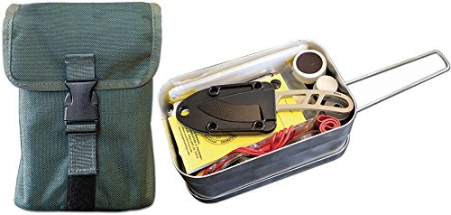 ESEE - Large Tin Survival Kit and Pouch - OD Green by ESEE