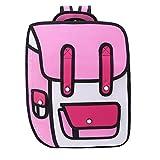 Youliy 3D Jump Style 2D Dibujo de dibujos animados Mochila de papel Bolsa de hombro Comic Bookbag