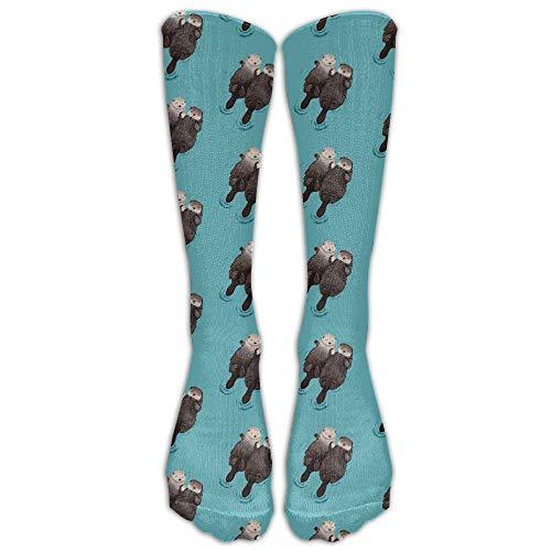 hfdff Persönlichkeit süße Otter Baby lange Strümpfe lässig Crew Socken 19,68 Zoll (50cm)