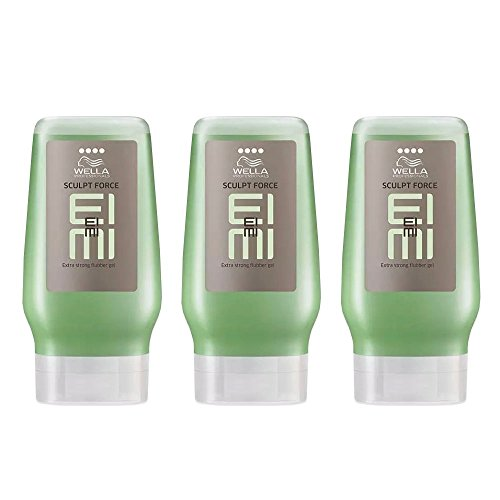 Wella EIMI Sculpt Force 3 x 125 ml Styling Texture Flubber Gel extra stark Professionals