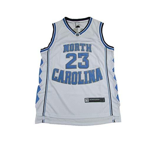 Michael Jordan # 23 Jersey, North Carolina Camiseta de baloncesto para hombre, malla de secado rápido, transpirable, gran material, S-XXL. blanco XL