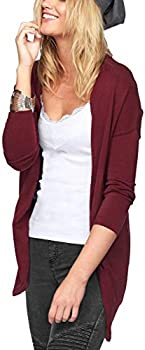 Jusfitsu Womens Long Sleeve Mid Length Cardigan Sweaters