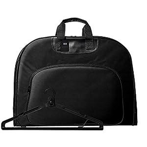 [グレヴィオ] 一流の鞄職人が作る ガーメントバッグ 防水 型くずれ防止 ポケット付き ガーメントケース メンズ AIN-KWYS-gament-01 0L 43 cm ブラック