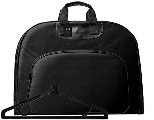 [グレヴィオ]一流の鞄職人が作るガーメントバッグ防水型くずれ防止ポケット付きガーメントケースメンズAIN-KWYS-gament-010Lブラック