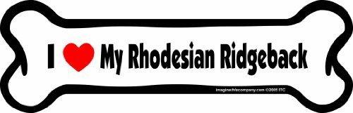 Imagine This Bone Car Magnet, I Love My Rhodesian Ridgeback , 2-Inch by 7-Inch by Imagine This Company (English manual)