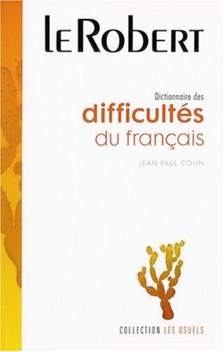 Dictionnaire des difficultés du français