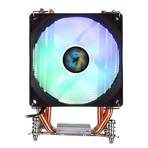 Zjcpow Computadora CPU Cooler Fan 3Pin 1 Ventiladores 4 Heatpipes Colorido Retroiluminado CPU Ventilador Refrigerador Radiadores Disipador
