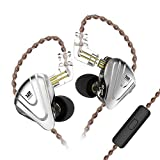 Yinyoo KZ ZSX 5BA 1DD Over Ear Earbuds Newest Monitor in-Ear Earbuds Earphones Noise Cancelling Wired Ear Buds Balanced Armature Dynamic Driver Hybrid Headphones(Black with mic) bass earphones Dec, 2020