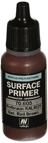 Vallejo - Fond de surface en polyuréthane - Coloré - 17 ml German Red Brown