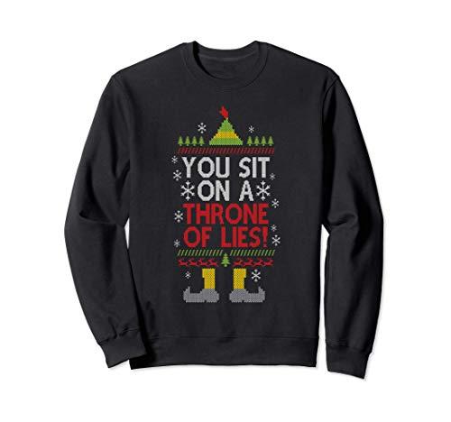 Te sientas en un trono de mentiras Navidad Papá Noel falso Sudadera