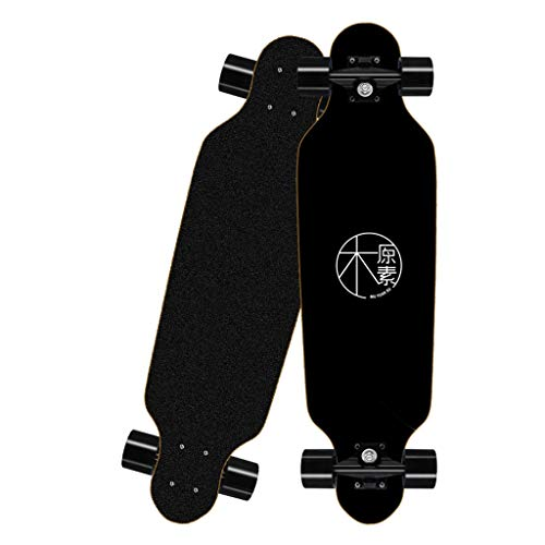 Mini Caster Board Longboard Skateboard, Skateboarding for Männer und Frauen, Outdoor Street Youth Stepping Skateboard, 8 Schichten Ahorn können bis zu 150 kg tragen Drop-Through-Freeride-Skating-Cruis