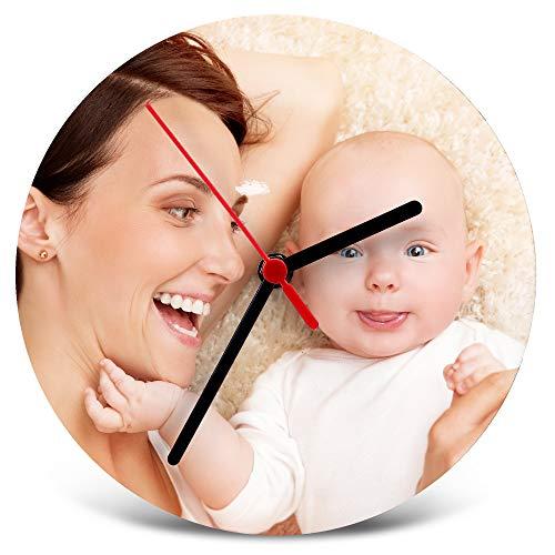 LolaPix Marco de Fotos Reloj de Madera Personalizado. Regalos Personalizados Dia del...