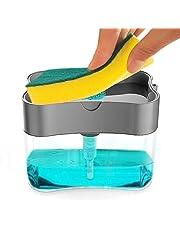 掃除スポンジ キッチン掃除 洗剤機 押し出す 食器洗い 風呂 掃除道具 バス掃除用スポンジ バス清掃