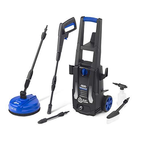 AR Blue Clean e-1600P Hochdruckreiniger mit Patio Cleaner und Feste Bürste (1600 W, 125 bar, 420 l/h)