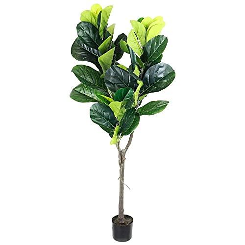 JonesHouseDeco Árbol artificial Fiddle Leaf Figue Artificiel, 160 cm, plantas artificiales...
