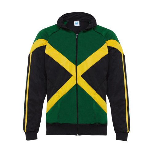 Jl Sport Negro Rasta Reggae Hombre Abada Capoeira Brasil entrenamiento de artes marciales de la chaqueta de manga larga (L)
