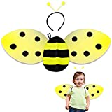 ArtCreativity Bee Costume for Kids, Honeybee Costume Set with 1 Pair of Wings and Antenna Headband, Cute Halloween Costume for Girls and Boys, Fun Pretend Play Accessories, Black and Yellow