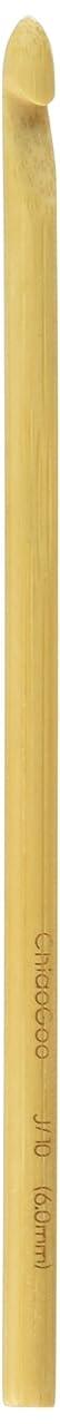 CHIAOGOO 1022CG-J J10/6mm Bamboo Crochet Hook, 7.5